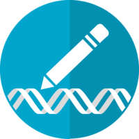 Grafik Stift und DNA symbolisiert Genome Editing